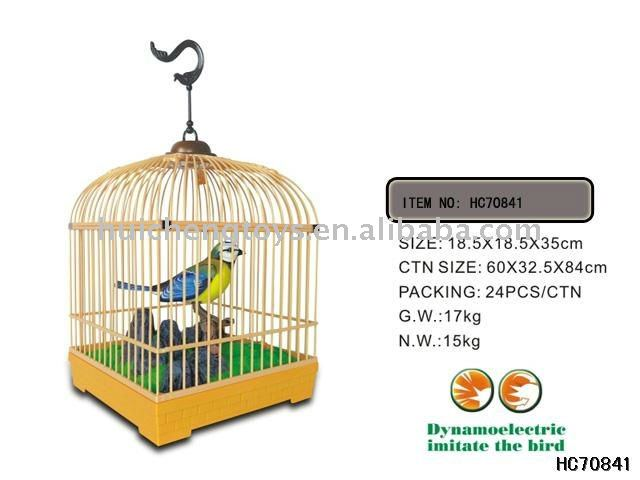 Vivid B/O Simulated Art Bird Cage Battery Operated Singing Bird Toys