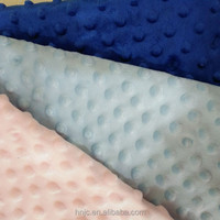 Anti-static 100% polyester minky bubble fabric for baby blanket