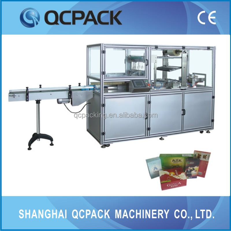 BTB-400 Full Automatic Electric Driven Type Plastic Film Cellophane Cigarettes Box Wrapping Machine