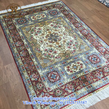 home textile 4x6ft silk hand knotted persian isfahan rugs for sale