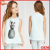 Sweetheart round neck graphic print kid clothes cheap kids clothing