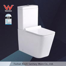 Hot selling square ceramic australian watermark toilet with uf close seat cover 8067