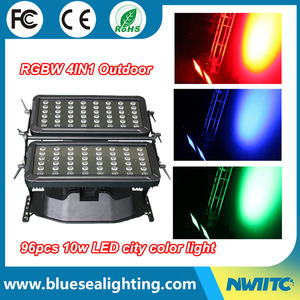 96*10W RGBW 4-in-1 led wall washer wash light city color