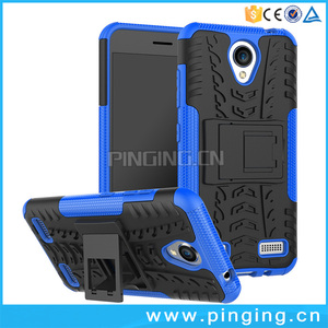 2 in 1 shockproof tire texture armor kickstand back cover for zte blade a520 , hybrid case for zte blade a520