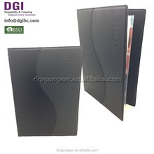 Manufacturer cocktail glass/ leatherette used catering equipment/ desserts a4 custom folder