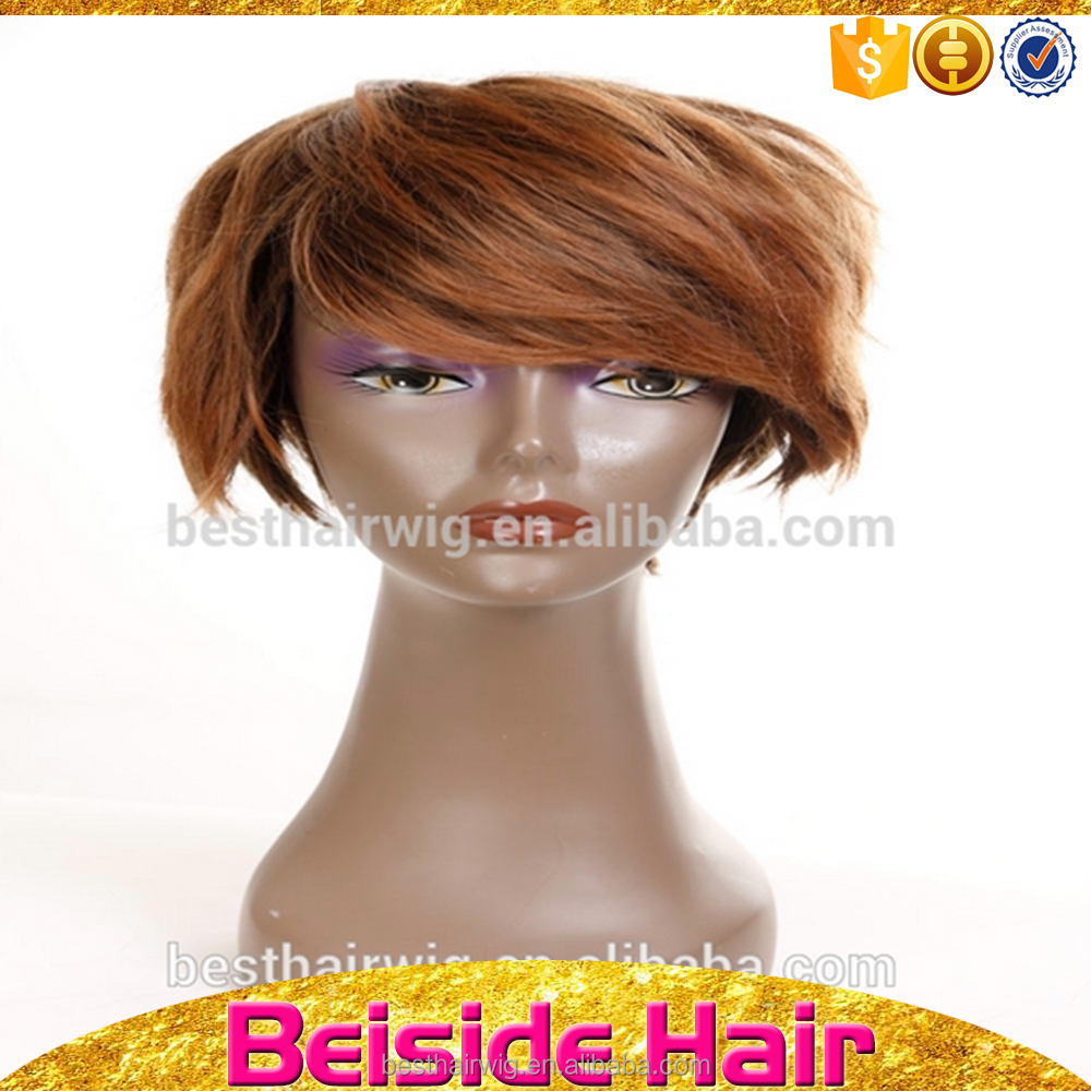 Hot Sale Remy Hair Fashion Design Short Synthetic Hair Wigs for Black Women