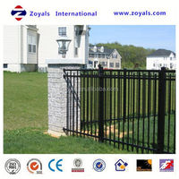 chain link aluminum ornamental fence slats manufacturer with ISO 9001