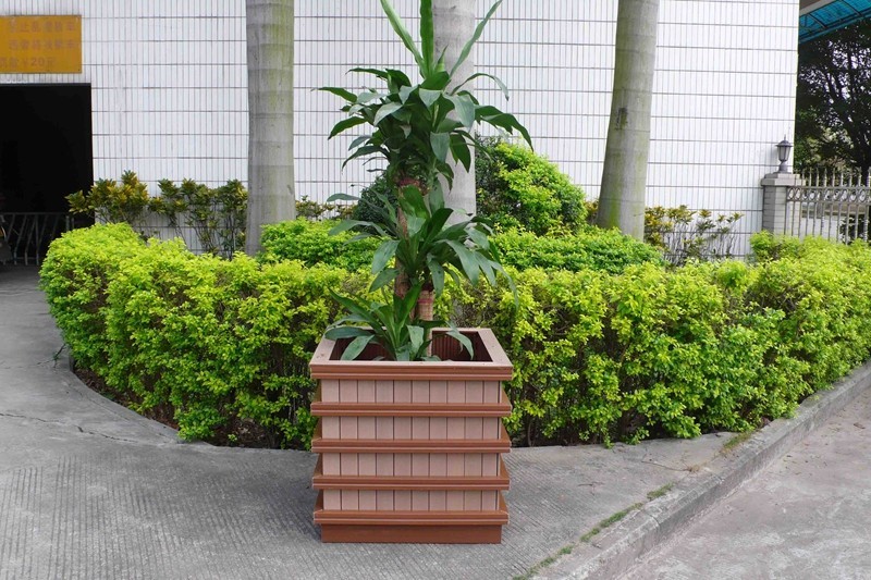 Factory direct sales hot sale wpc wooden flower box pot stands rack