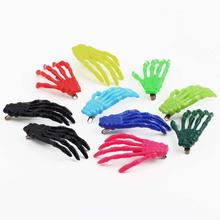 Halloween Party Zombie Skull Skeleton Hand Bone Claw Hairpin Punk Hair Clip For Women Girl