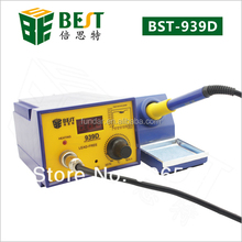 Free shipping BEST-939D ESD safe 60W constant temperature intelligent SMD rework station lead free electronic soldering iron