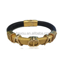magnetic leather handmade bracelet bangle Alpha Phi Alpha divine bracelets,APA greek customized Fraternity Sorority jewelry