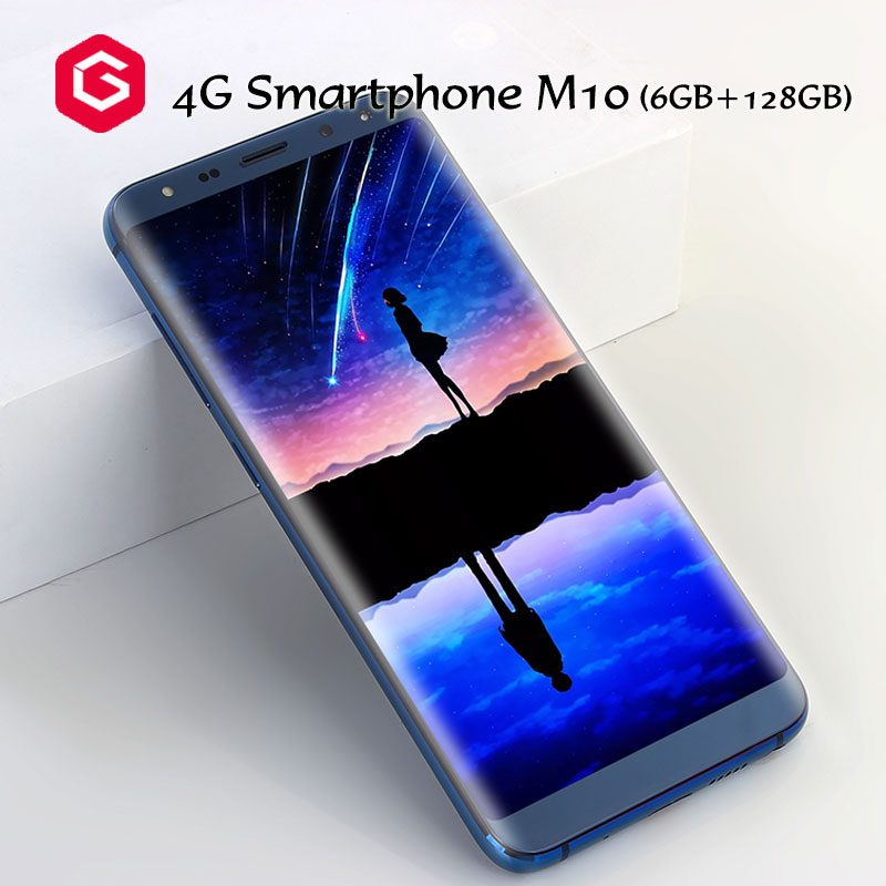 5.72 inch 4G Smartphone Octa Core Full HD Screen 18:9 Dual Camera Touch ID HD Wall Papter Face ID