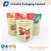 Customized fruit juice plastic pouch ziplock reusable drink pouch with spout