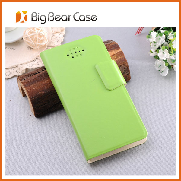 universal wallet leather phone leather case for micromax a116 canvas hd