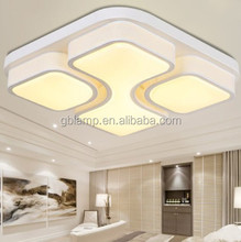 Warm white Chinese ceiling lamp, acrylic led Ceiling light square