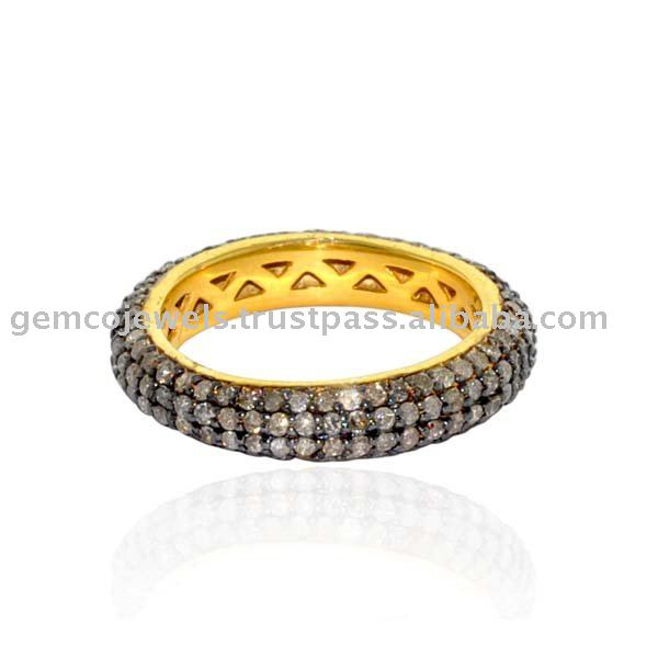 14kt Solid Yellow Gold Real Pave Diamond Designer Handmade Wholesale Wedding Rings Women's Jewellery, Wholeslae Handmade Jewelry