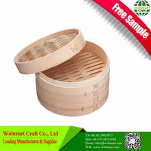 Food Grade Polished Surface Bamboo Material Dim Sum Steamer