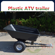 Utility wood ATV trailer with air wheels
