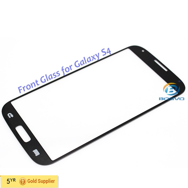Front Glass Len replacement Black White High Copy Grade AAA For Samsung S4