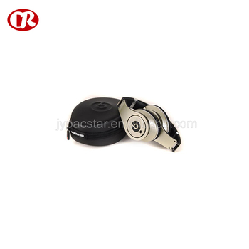 Custom size round shape molded design fashion earphone carrying case