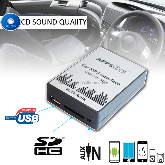 APPPS2CAR usb car adapter with usb sd aux for Renault 8P,car cassette adapter for usb