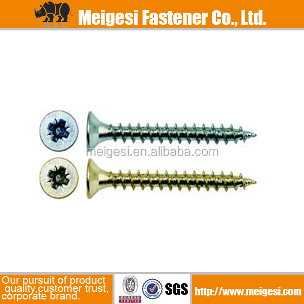 Supply DIN7505 all sizes standard carbon steel zinc plated chipboard screw pozidrive, Made in China high quality cheaper