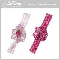 Colorful fabric flower headband, hair accessories for baby girls
