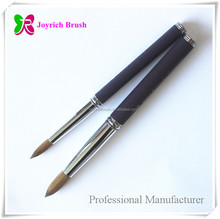 Purple metal natural color acrylic nail products flexible handle brush