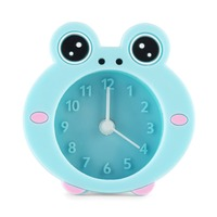 2016 New Year Gift Home decoration desk silicone frog shape promotional alarm clock