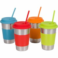 Wholesale Custom Reusable Colored Silicone Coffee Cup Lids/Sleeves