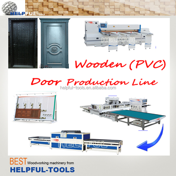 China professional and high quality wooden/PVC door production line, furniture production line