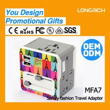 2013 LONGRICH new product tabletop socket box hdmi vga 220 rj45 Travel Adapter