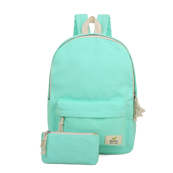 MIWIND 2016 Solid Color Women Backpack High Quality Cute Canvas Backpack Female School Bags For Teenagers Mochila Escolar CB206