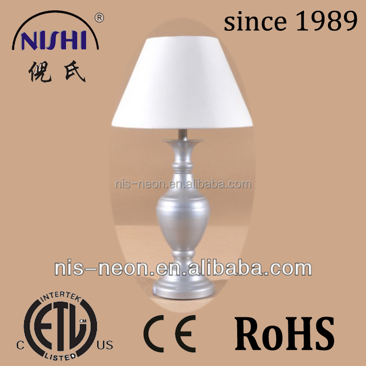modern metal base rechargeable cordless table lamp home goods table lamp and shade (NS-121116)