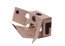 New High quality 6 inch DIY 3D Video Viewer Virtual Reality black Google Cardboard 2.0 factory price