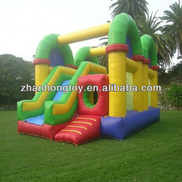 2014 new fashion and hot sale inflatable jumping castle with slide