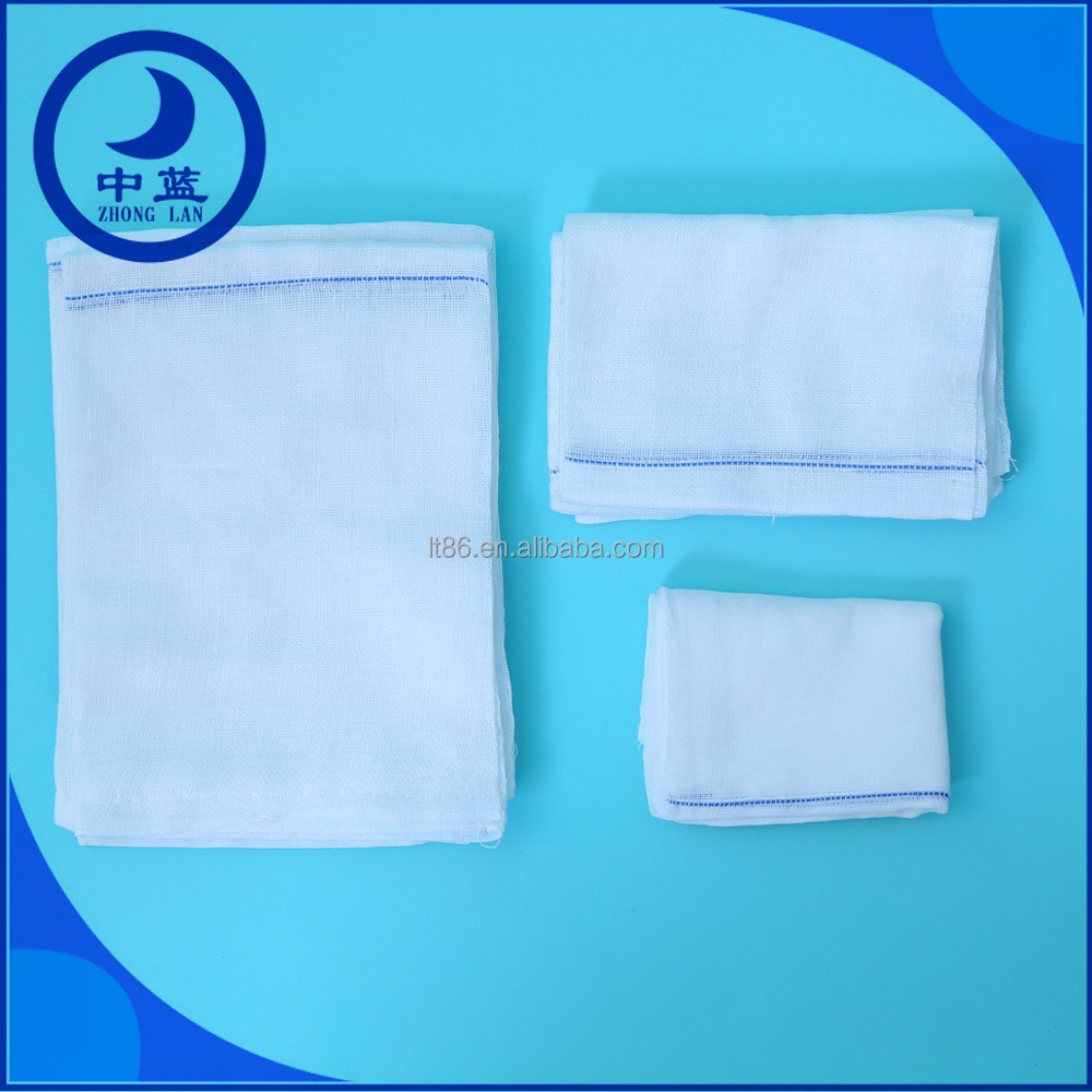 Medical self - adhesive surgical hemostatic absorbent gauze pads/swabs