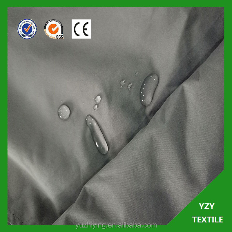 PA/PV/PVC coated pongee waterproof raincoat fabric