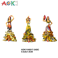 AOK 3D Vivid Craft Gift Woman Statue Resin Gift Dancing Girl Figurine