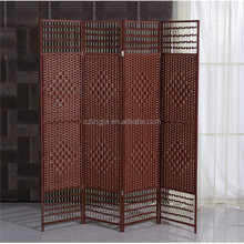 Cheap Paper Rope Wood Partition Indoor Wooden Decorative Screens
