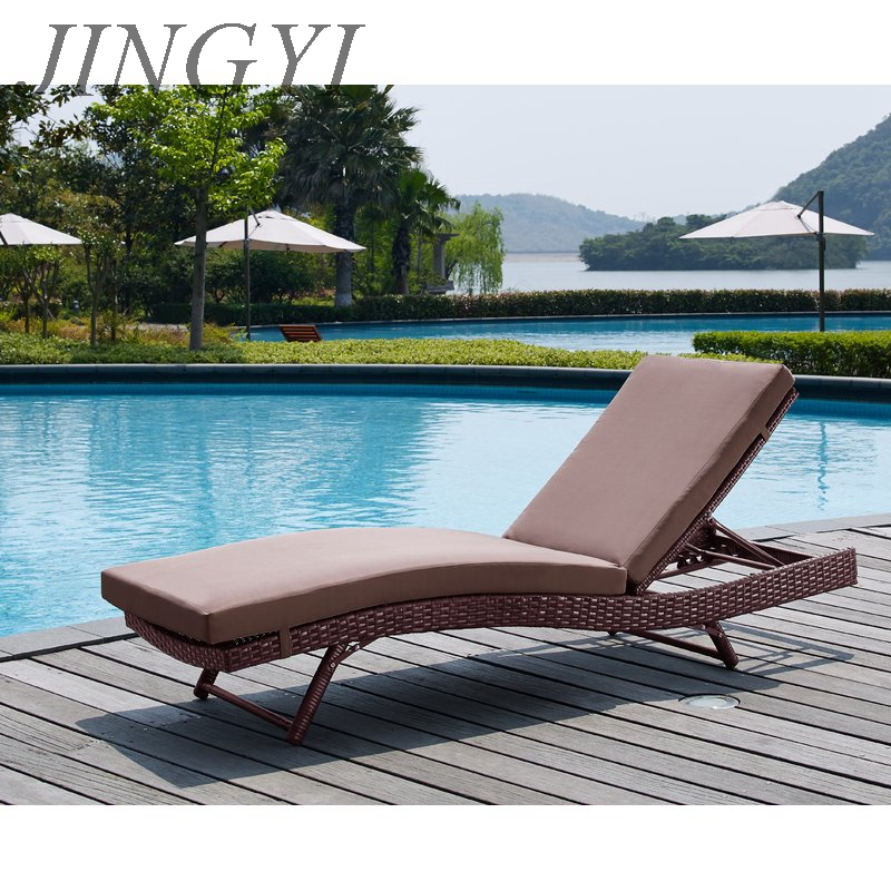 hot sale iron frame patio hotel lounger outdoor furniture B190