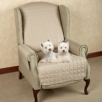 elastic quilted recliner chair cover