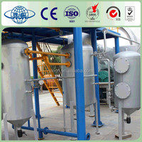 High efficiency scrap tire processing to crude oil machinery