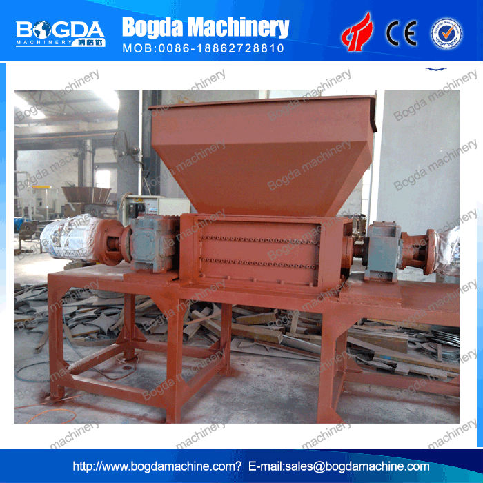 CE certificate wood nail pallet crusher double shaft shredder system