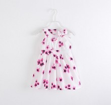C29977A Wholesale Child Girl Printed Summer Casual Dresses