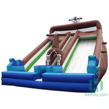 Top quality palm tree inflatable water slide/ inflatable slip n slide for adult