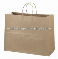 plain cheap brown kraft paper bags with handles