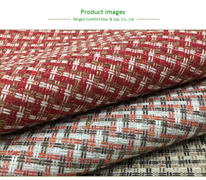 Custom Pattern Upholstery Fabric Microfiber Chenille Jacquard Sofa Fabric for Sofa Furniture
