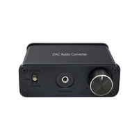 DAC digital SPDIF Toslink and Coaxial to analog 3.5mm AUX and RCA (L/R) Stereo Audio Converter adapter, PCM, CD