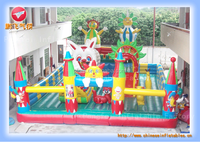 Large inflatable fun city and funny inflatable playground for kids and adults